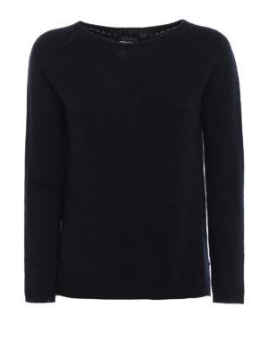 Max Mara: maglia collo rotondo - Pullover 3Giorgi in cashmere blu