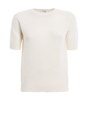 Max Mara: crew necks - Alaska cashmere and silk sweater