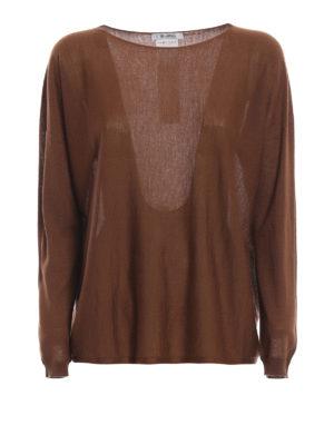 Max Mara: maglia collo rotondo - Maglia oversize Corea in cashmere