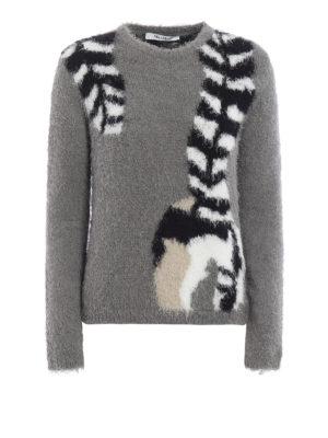 Max Mara: crew necks - Furetto cotton blend crewneck