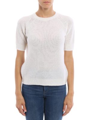 Max Mara: crew necks online - Alaska cashmere and silk sweater
