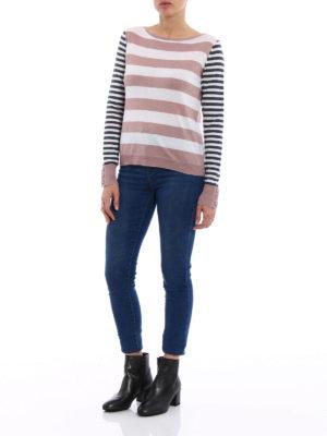 Max Mara: crew necks online - Marica silk and cashmere sweater