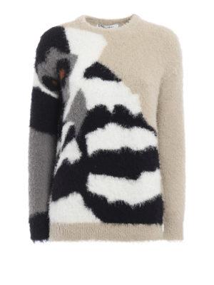Max Mara: crew necks - Sabina cotton blend crewneck