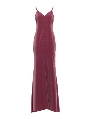 Max Mara: abiti da sera - Abito Caladio in velluto rosa scuro