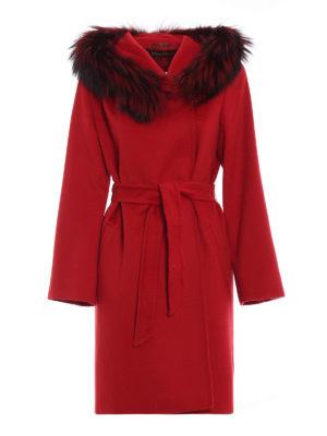 Max Mara: Pellicce e montoni - Cappotto parka in lana con pelliccia Mango