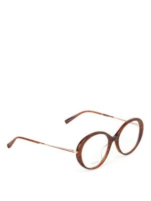 Max Mara: Occhiali - Occhiali da vista effetto marmorizzato