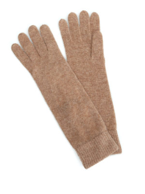 Max Mara: guanti - Guanti Orlanda in cashmere beige