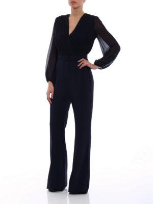 Max Mara: jumpsuits online - Dumbo silk georgette crepe jumpsuit