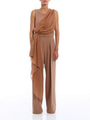 Max Mara: jumpsuits online - Radica soft drapery jumpsuit