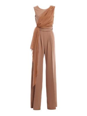 Max Mara: jumpsuits - Radica soft drapery jumpsuit