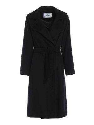 Max Mara: cappotti al ginocchio - Cappotto 3Manuel in puro cammello nero