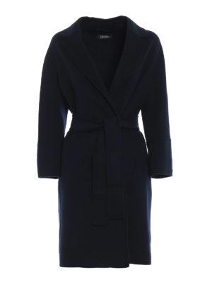Max Mara: cappotti al ginocchio - Cappotto Arona in pura lana vergine blu