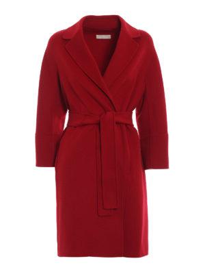 Max Mara: cappotti al ginocchio - Cappotto Arona in pura lana vergine rosso