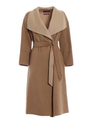 Max Mara: cappotti al ginocchio - Cappotto Bosso lana cashmere e seta
