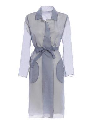 Max Mara: knee length coats - Cecilia organdy overcoat