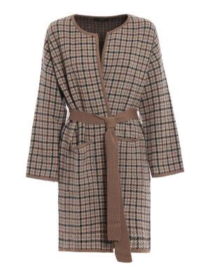 Max Mara: cappotti al ginocchio - Cappotto girocollo Cipria in lana e alpaca