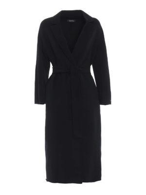 Max Mara: cappotti al ginocchio - Cappotto Giungla in lana e angora nero