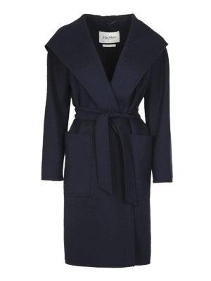 Max Mara: cappotti al ginocchio - Cappotto Mozart lana e cashmere blu