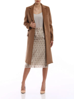Max Mara: knee length coats online - Aureo camel coat