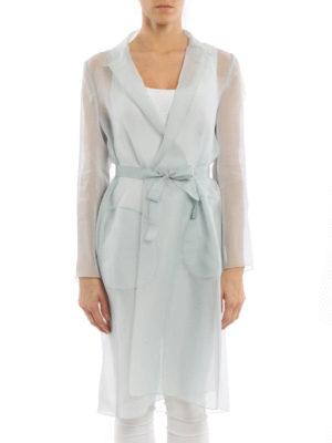 Max Mara: knee length coats online - Cecilia organdy overcoat