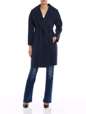 Max Mara: knee length coats online - Messi double wool coat