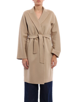 Max Mara: knee length coats online - Nancy double wool coat