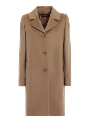 Max Mara: cappotti al ginocchio - Cappotto Sarzana in Pure New Wool® marrone