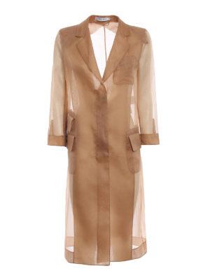 Max Mara: knee length coats - Soraga camel organza coat