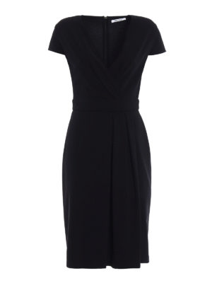 Max Mara: knee length dresses - Feluca viscose jersey black dress