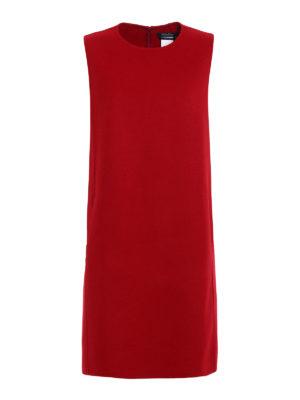 Max Mara: knee length dresses - Fionda double wool and angora dress