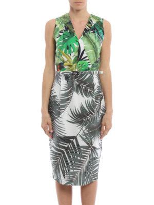 Max Mara: knee length dresses online - Oppio tropical print dress