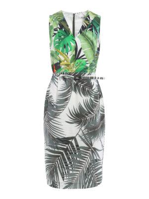 Max Mara: knee length dresses - Oppio tropical print dress