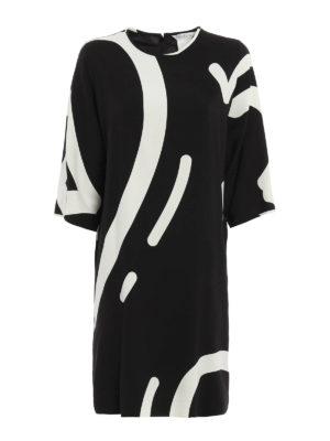 Max Mara: knee length dresses - Rete printed cady dress