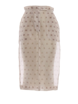 Max Mara: Knee length skirts & Midi - Bibo silk organza skirt