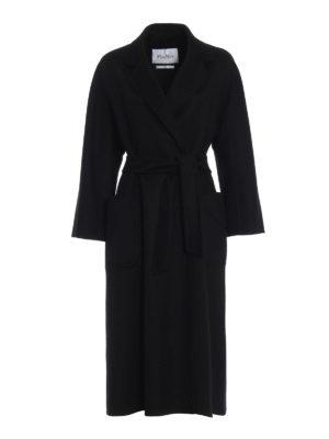 Max Mara: cappotti lunghi - Cappotto Labbro in cashmere nero