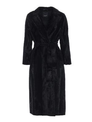 Max Mara: cappotti lunghi - Cappotto Ocroma in tessuto effetto persiano