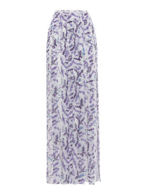 Max Mara: Long skirts - Oreste fringed long skirt