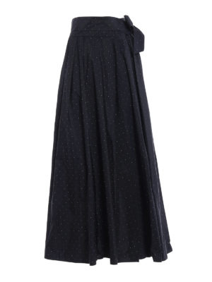 94a917ebcb Marilyn black lace and tulle midi skirt. $ 1,012.00. $ 708.00. 30%OFF. Max  Mara: Gonne Lunghe - Gonna lunga Scire in taffetà a pois