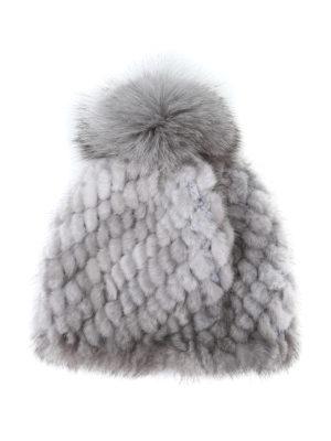 Max Mara: berretti online - Berretto Delia 2 grigio in visone e volpe
