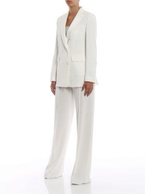 Max Mara: giacche blazer online - Blazer Alato doppiopetto in crepe