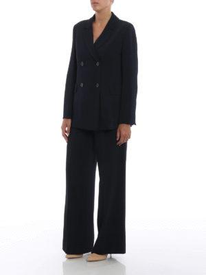 Max Mara: giacche blazer online - Blazer doppiopetto Uguale in cady blu