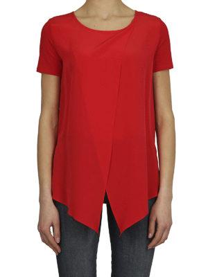 Max Mara: bluse online - Blusa in crepe e jersey Orma