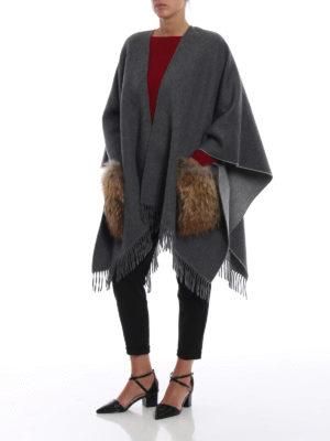 Max Mara: Mantelle e poncho online - Mantella Kuens in lana e pelliccia