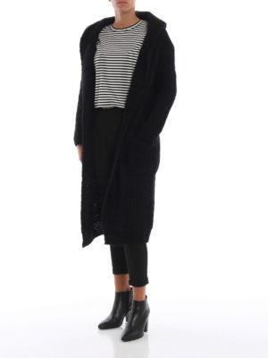 Max Mara: cardigan online - Cardigan lungo Ovada in lana mohair
