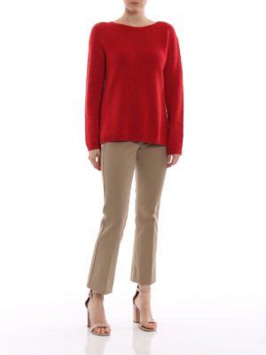Max Mara: pantaloni casual online - Pantaloni stretch beige Fatina