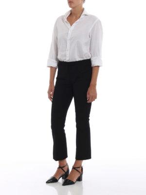 Max Mara: pantaloni casual online - Pantaloni Fatina in cotone stretch nero