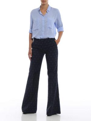 Max Mara: pantaloni casual online - Pantaloni Gioire in misto cotone jacquard