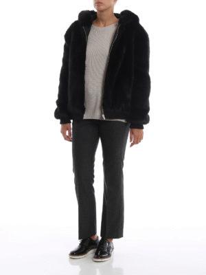 Max Mara: pantaloni casual online - Pantaloni Lina in flanella taglio maschile