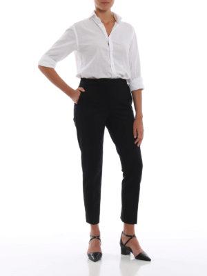 Max Mara: pantaloni casual online - Pantaloni neri Pegno in doppio jersey