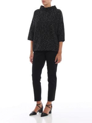 Max Mara: pantaloni casual online - Pantaloni Pegno in doppio jersey nero